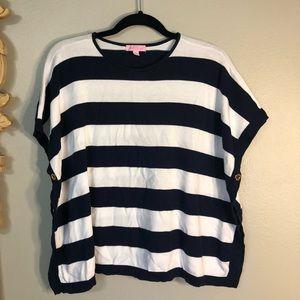 Lilly Pulitzer Nautical Navy & White Bold Striped